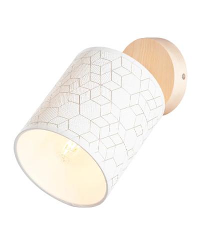 Aplica Galance I, metal/lemn, alb/maro, 13 x 23 x 23 cm, 40w imagine