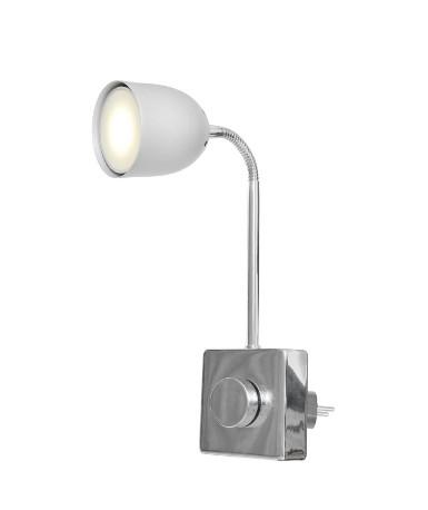 Aplica Plugy I, metal, alb, 14 x 19 x 8 cm