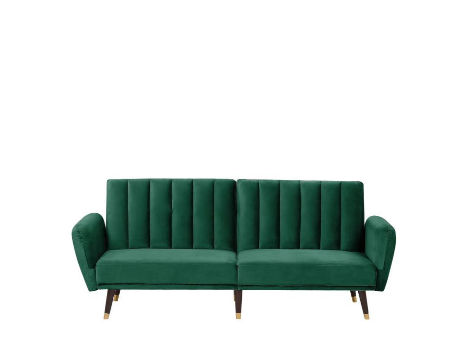 Canapea extensibilă VIMMERBY, lemn/catifea, 90 x 212 x 53 cm