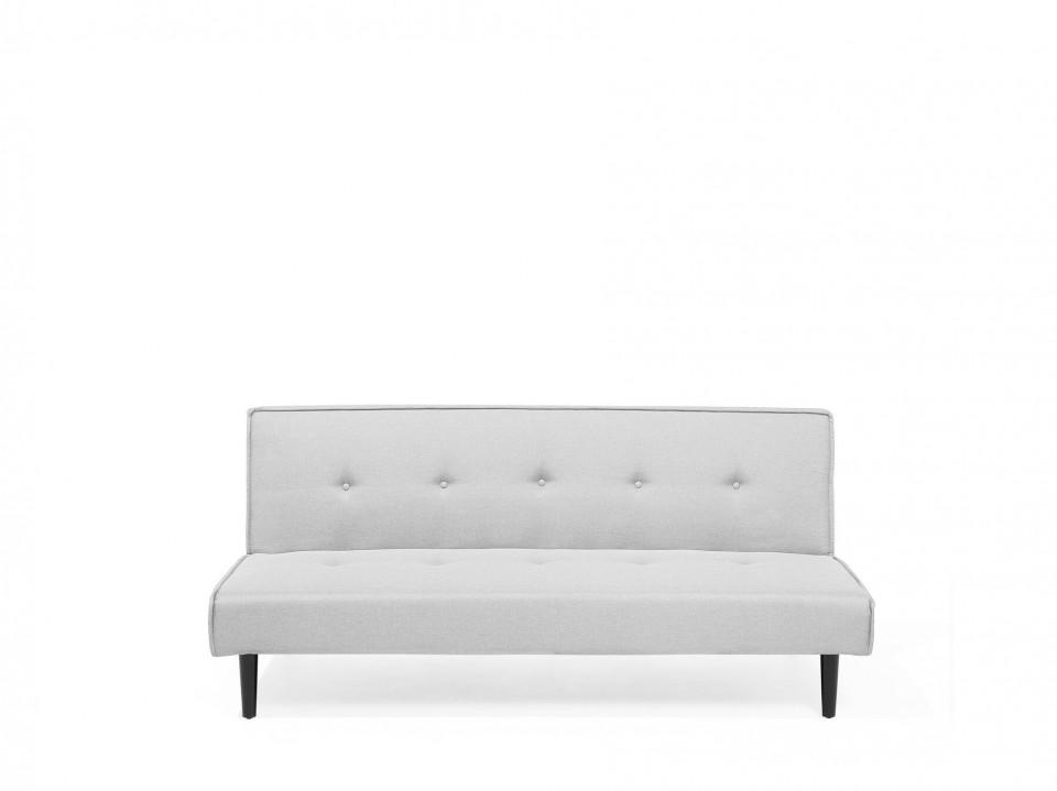 Canapea extensibila VISBY, textil, gri, 80 x 180 x 92 cm 2021 chilipirul-zilei.ro