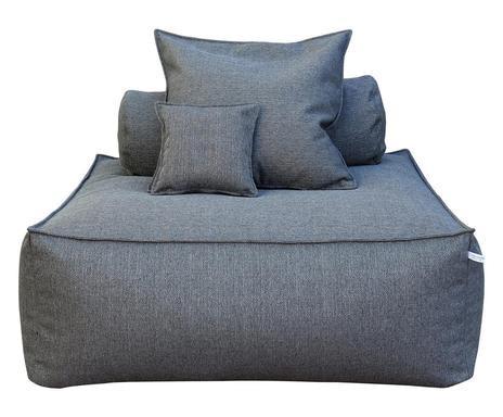 Canapea de o persoană Panama Class gri, 110x110x90cm