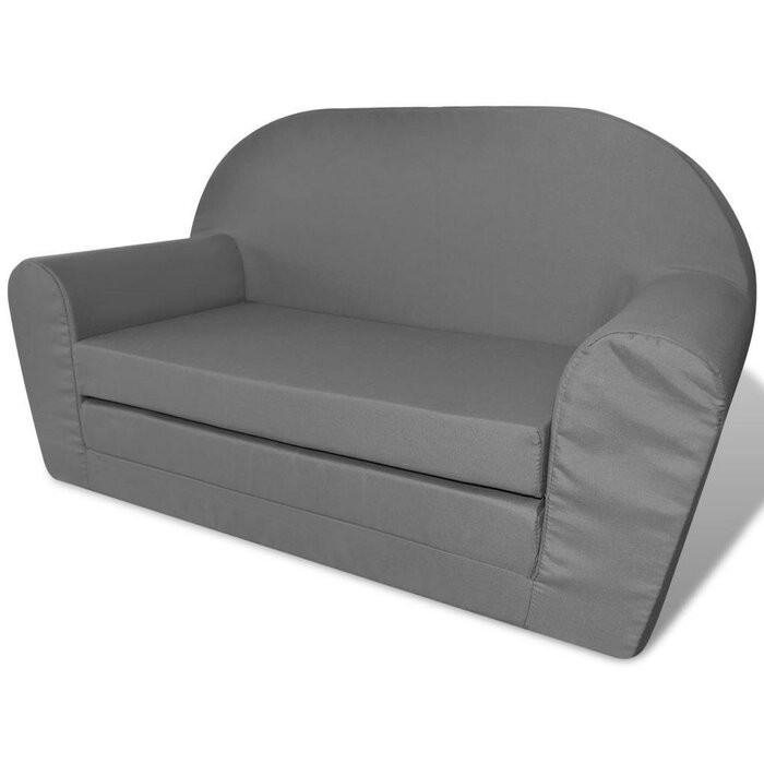 Canapea pentru copii Agouram, gri, 46 x 78 x 35 cm chilipirul-zilei.ro