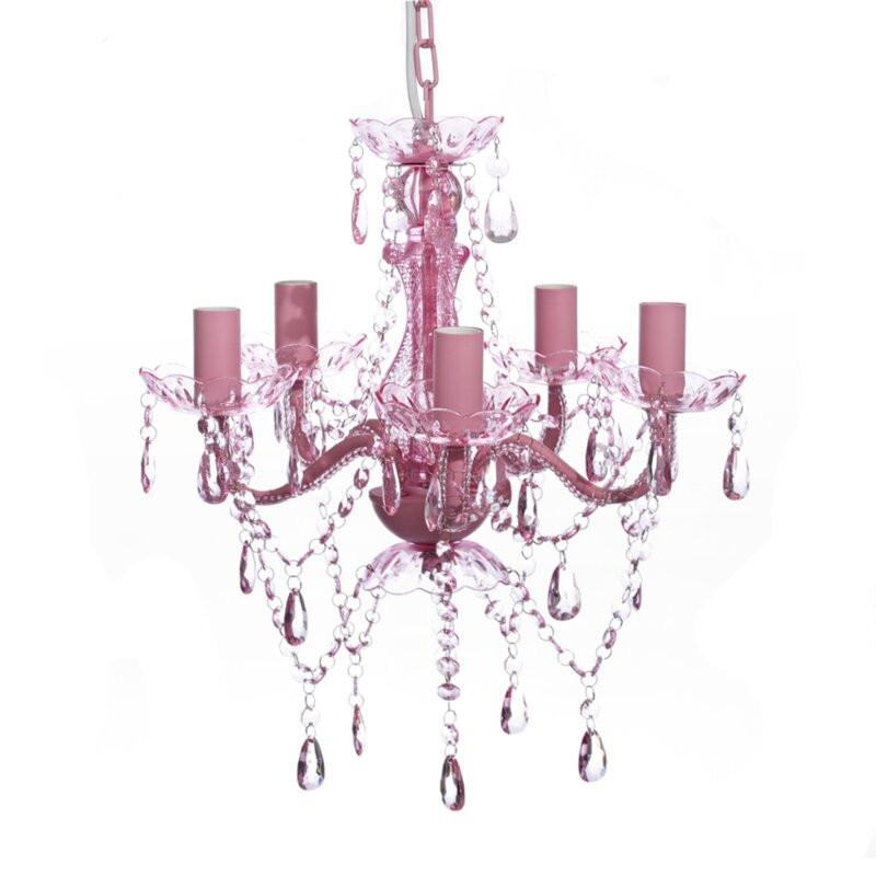 Candelabru cu 5 lumini din cristal, 40 x 45 cm