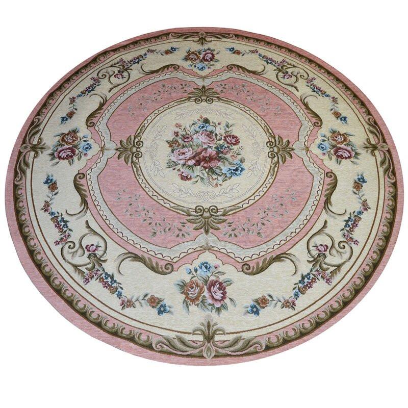 Covor Fain French roz, diametru 200 cm