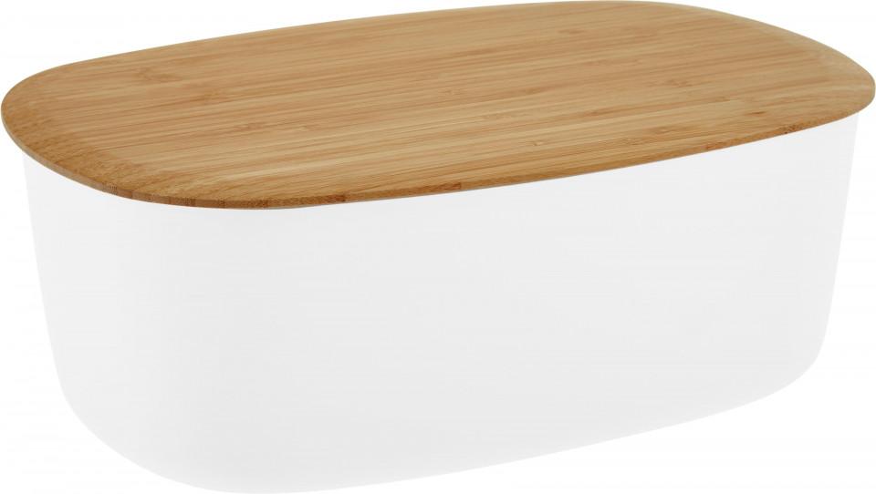 Cutie pentru paine Box-It, gri/maro, 35 x 12 x 23 cm imagine 2021 chilipirul zilei