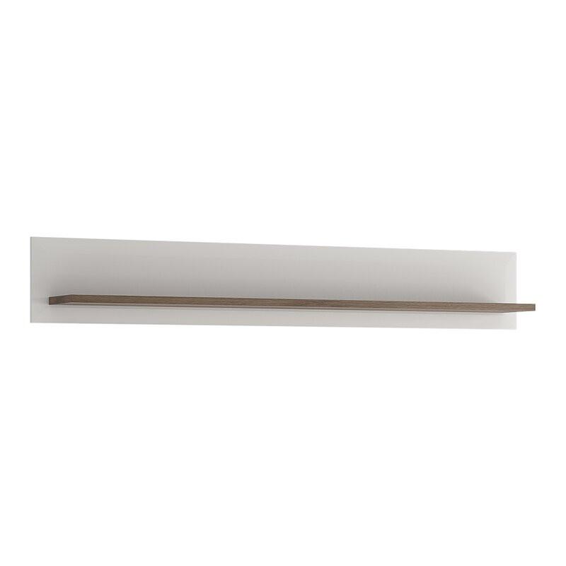 Etajera Brayden din lemn, alb, 165 x 25 cm