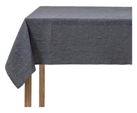 Fata de masa din in pur, gri, 140x350 cm