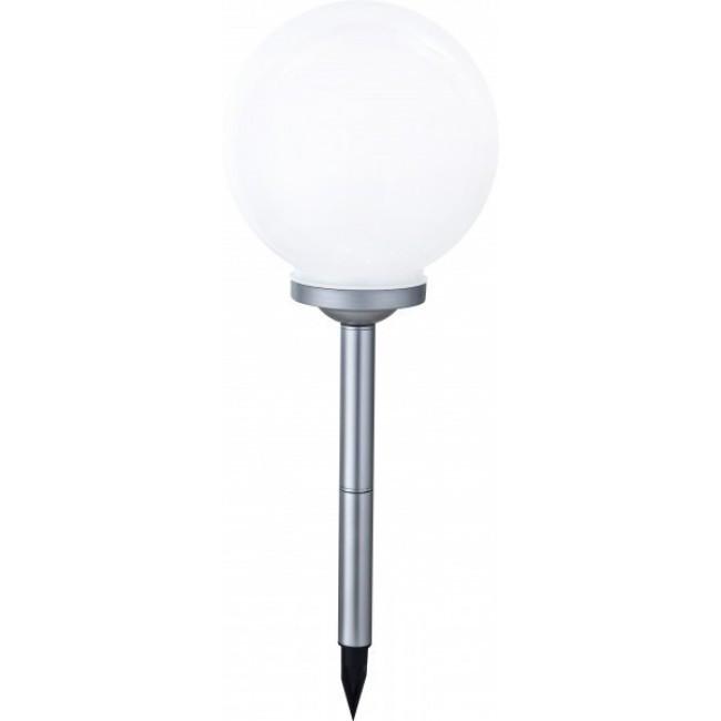 Lampa solara Fara II, plastic, argintie, 30 x 75 cm, 6w imagine