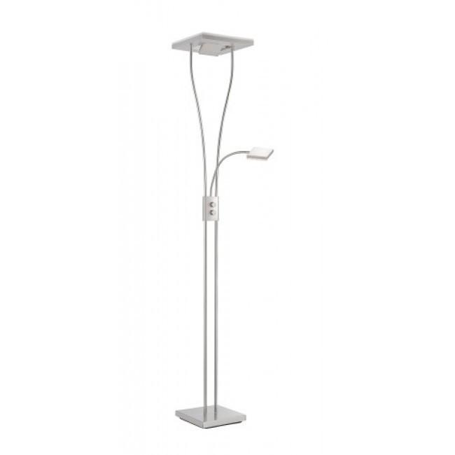 Lampadar Helia I, LED, metal/plastic, alb, 57 x 198 x 5.9 cm