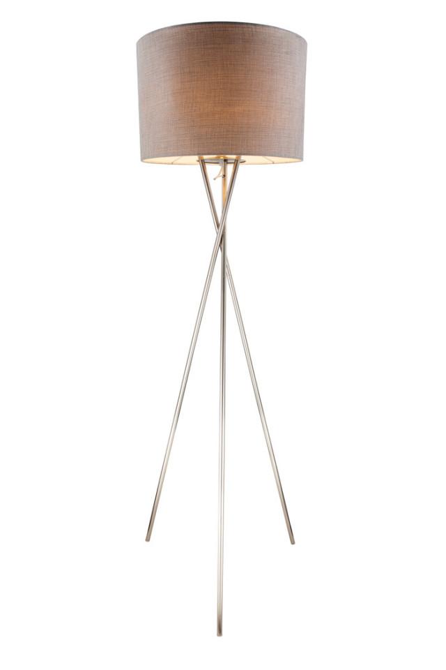 Lampadar Paco II, metal/tesatura, gri, 62 x 160 cm imagine 2021 chilipirul zilei