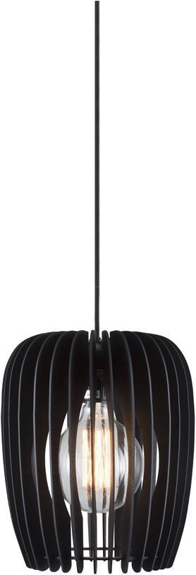 Lustra tip pendul Tribeca, lemn/plastic, neagra, 24 x 30 x 24 cm imagine 2021 chilipirul zilei