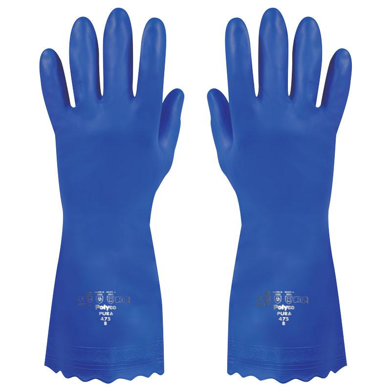 Manusi Polyco Pura PVC, albastre, marimea 7/S imagine chilipirul-zilei.ro