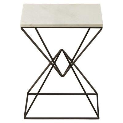 Masa laterala Cuomo din marmură, 55 x 36 x 26 cm