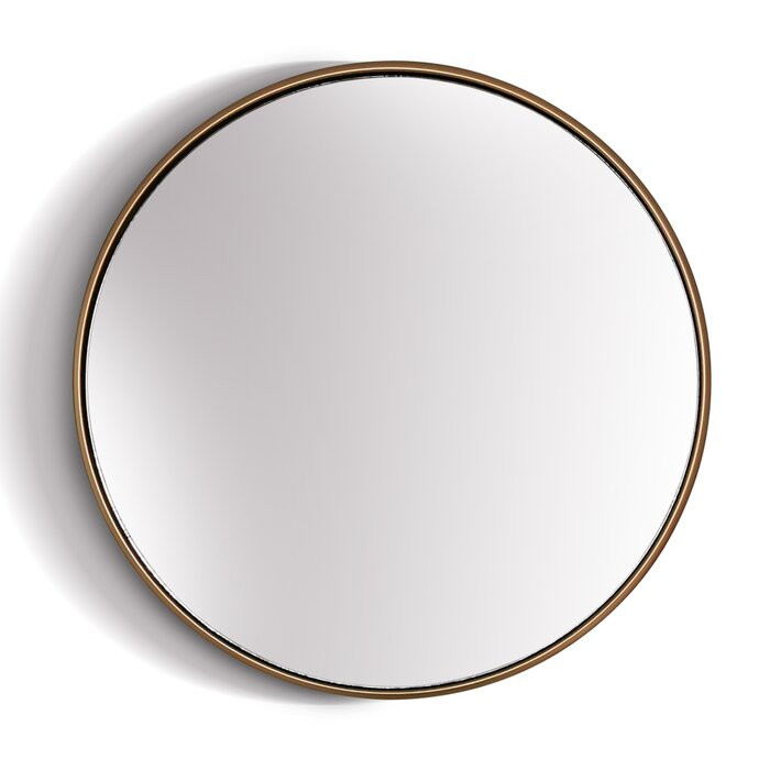 Oglinda Avina, metal, culoare alama antichizata, 40 x 40 x 2,4 cm chilipirul-zilei.ro
