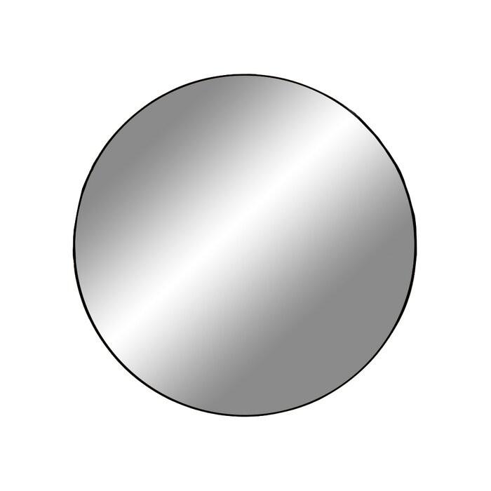 Oglinda de perete Annifer, neagra, 60 x 60 cm chilipirul-zilei 2021