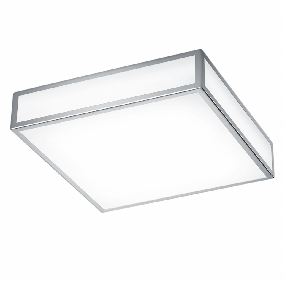 Plafoniera LED Zello II sticla/cromat, alb, 1 bec, 220 V, 1310 lm imagine