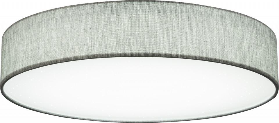 Plafoniera Paco, metal/textil, gri, 14 x 80 cm, 80w imagine