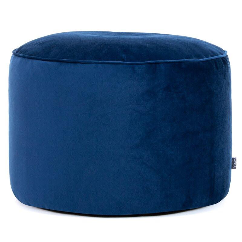 Puf Glenys, albastru marin