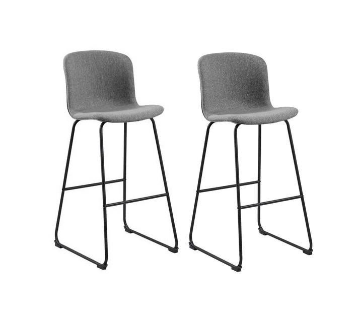 Set de 2 scaune de bar Story, gri