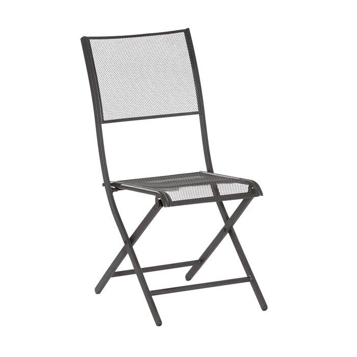Set de 2 scaune de gradine Carnation, gri/grafit, 89 x 42 x 54 cm imagine chilipirul-zilei.ro