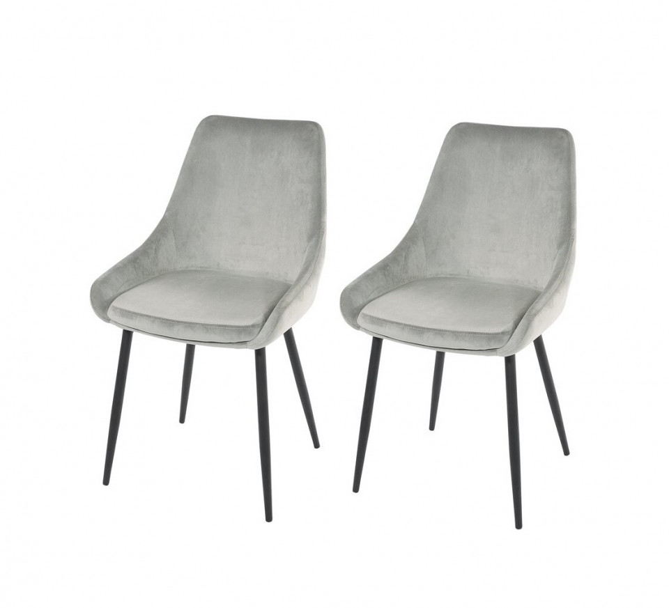 Set de 2 scaune Karly, catifea gri, 83 x 48 cm chilipirul-zilei 2021