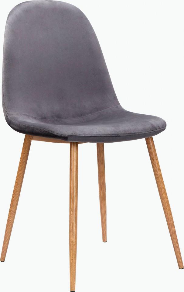 Set de 2 scaune Monza - picioare stejar/catifea - antracit chilipirul-zilei 2021
