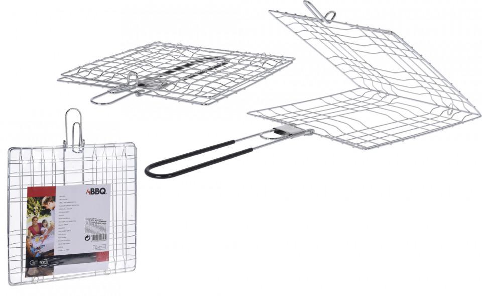 Set de 2 suporturi pentru gratar 22x22x41 cm imagine chilipirul-zilei.ro