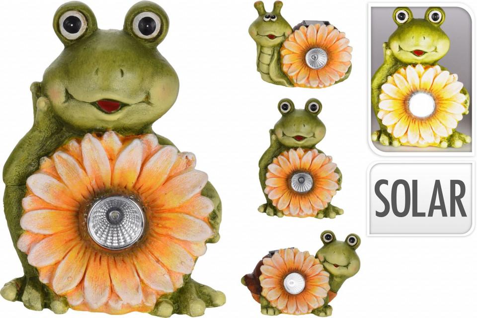 Set de 3 animalute de ceramica Karll floarea soarelui cu lumina solara chilipirul-zilei.ro