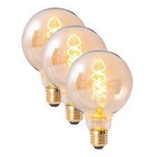 Set de 3 becuri Moulle, LED, sticla, 10 x 14 x 10 cm imagine