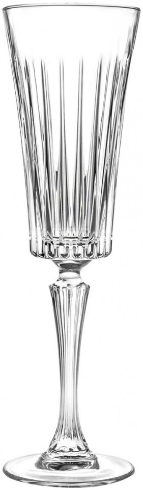Set de 6 pahare pentru sampanie, transparente, 24 x 7 cm
