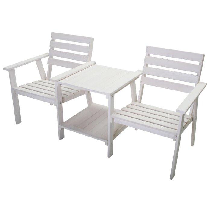 Set de masuta si 2 scaune Palomar, albe 2021 chilipirul-zilei.ro