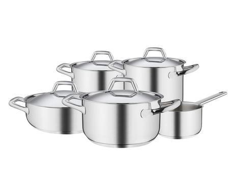 Set de oale Chef Line, oțel inoxidabil, argintiu, 22 cm imagine chilipirul-zilei.ro