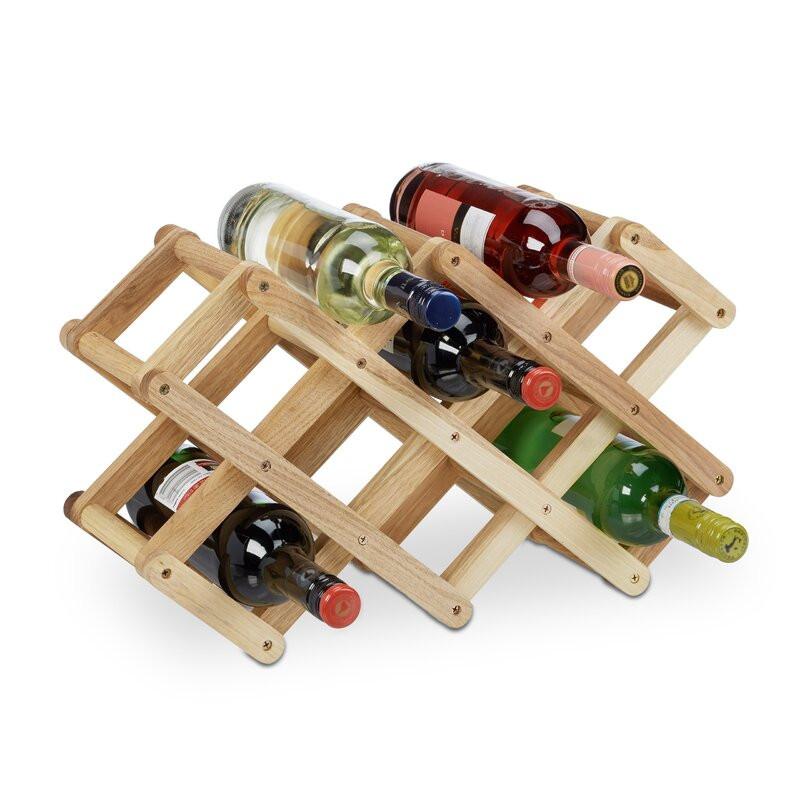 Suport pentru 8 sticle de vin Shannon, lemn masiv