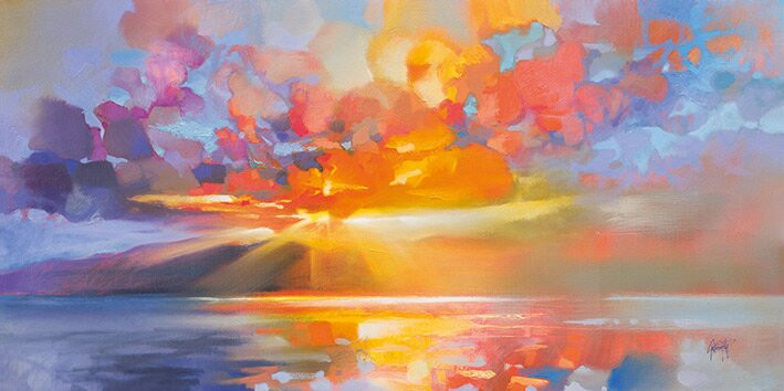 Tablou 'Arran Equinox' By Scott Naismith, 50 x 100 cm