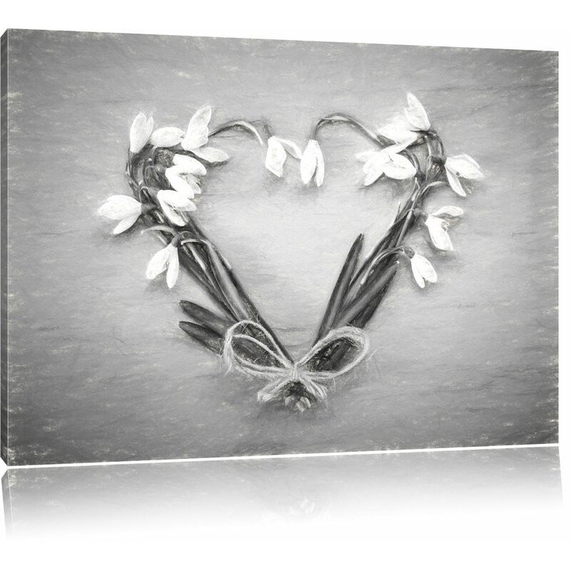 Tablou canvas Flower Heart , 40 x 60 cm