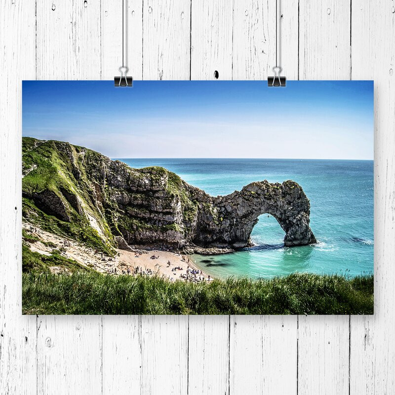 Tablou Durdle Door Cliffs Dorset Seascape, 42 x 59 cm chilipirul-zilei 2021