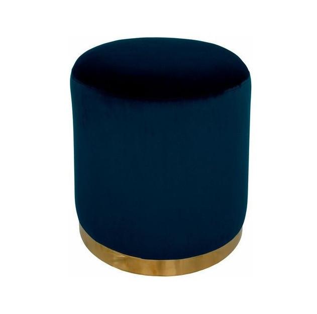 Taburet Home Affaire, catifea, albastru, 40 x 40 x 40 cm 2021 chilipirul-zilei.ro