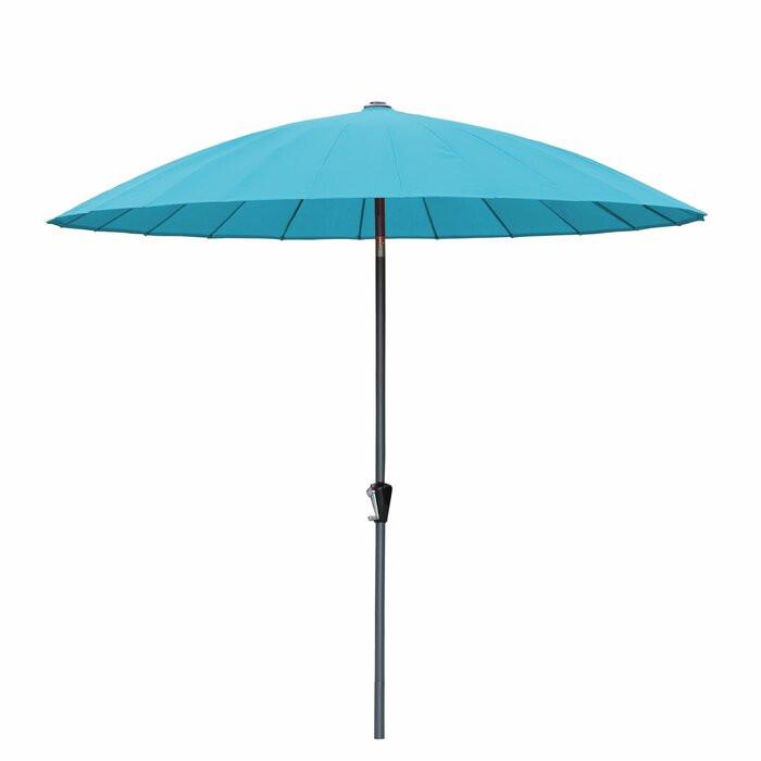 Umbrelă de balcon, turcoaz, 2,7 m imagine chilipirul-zilei.ro