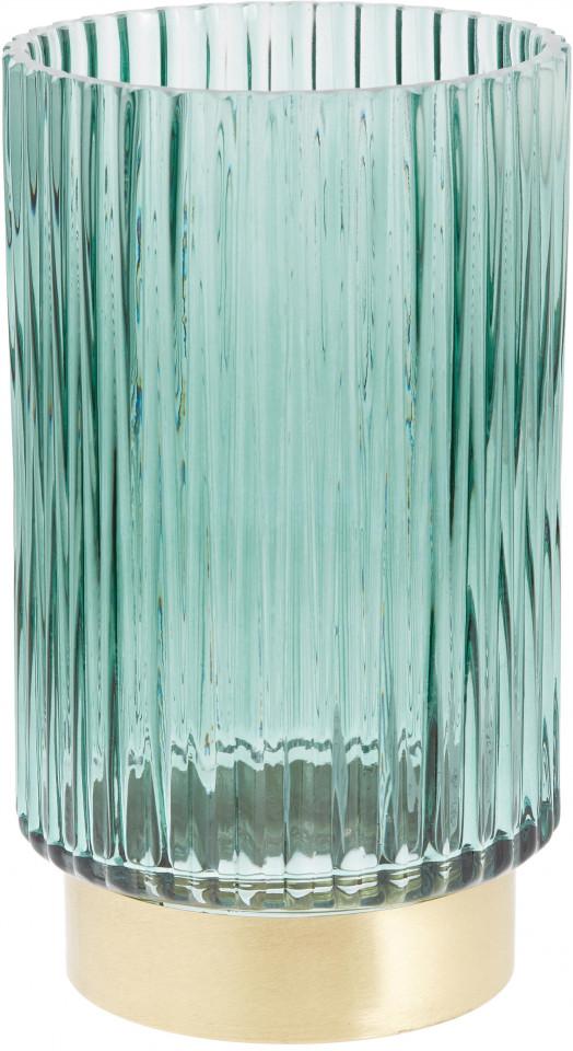 Vaza Lene, verde/aurie, 12 x 20 cm