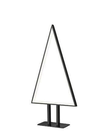 Veioza, LED, aluminiu, neagra, 25 x 50 x 8 cm, 32w