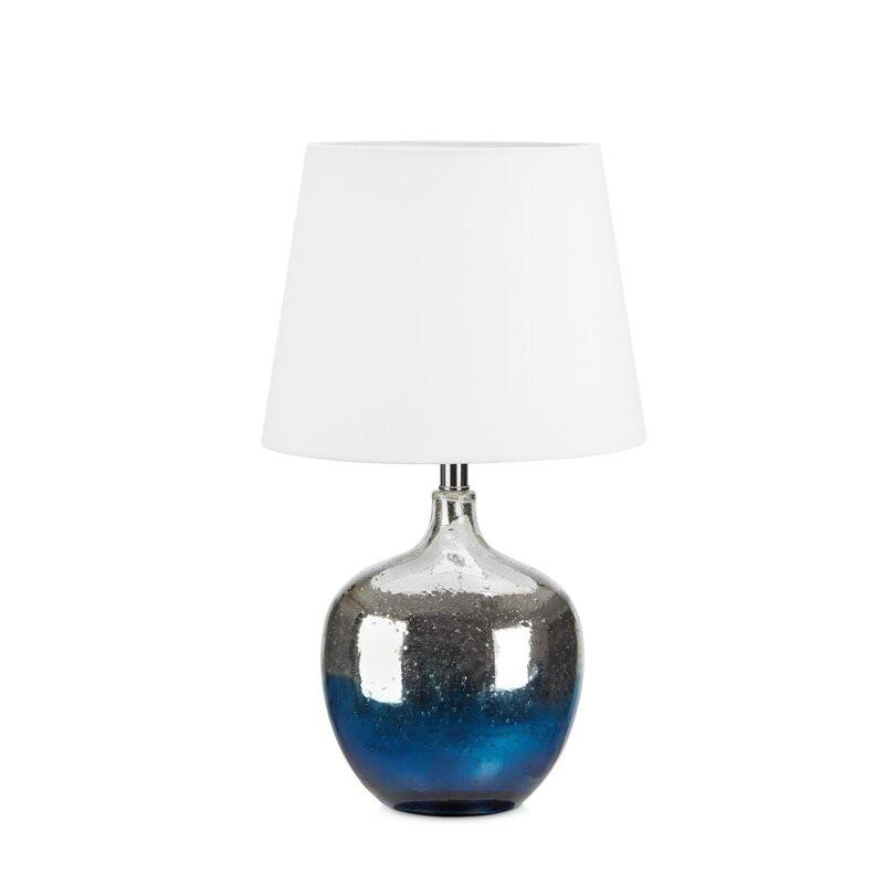 Veioza Loren din sticla, albastru, 58 x 33 cm 2021 chilipirul-zilei.ro