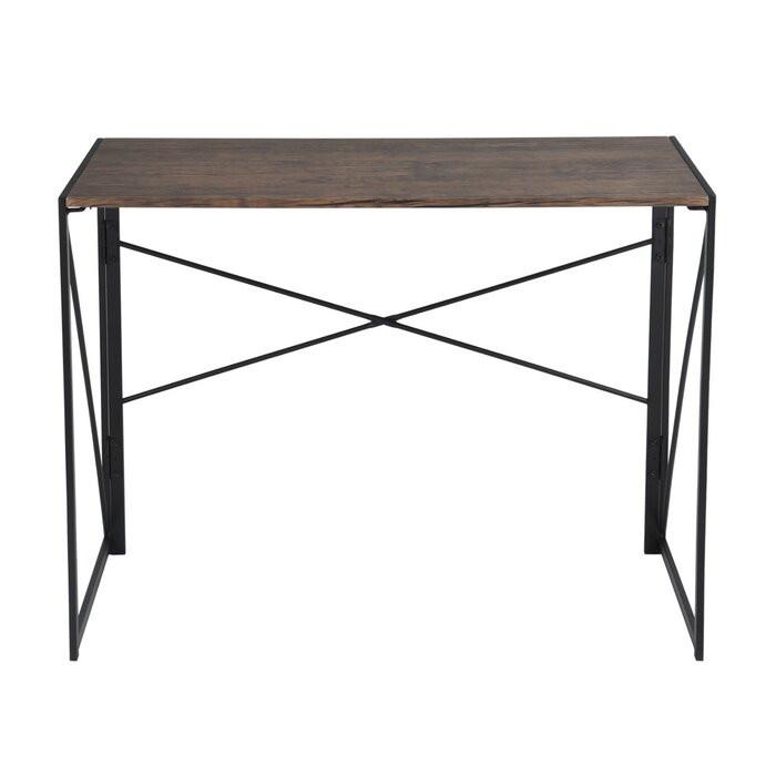 Birou Arleaner, lemn/metal, maro, 75 x 100 x 50 cm