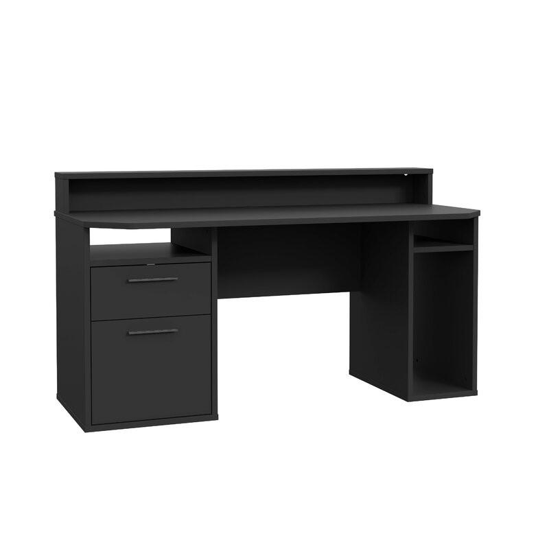 Birou Unyay din PAL, negru, 160 x 90 cm