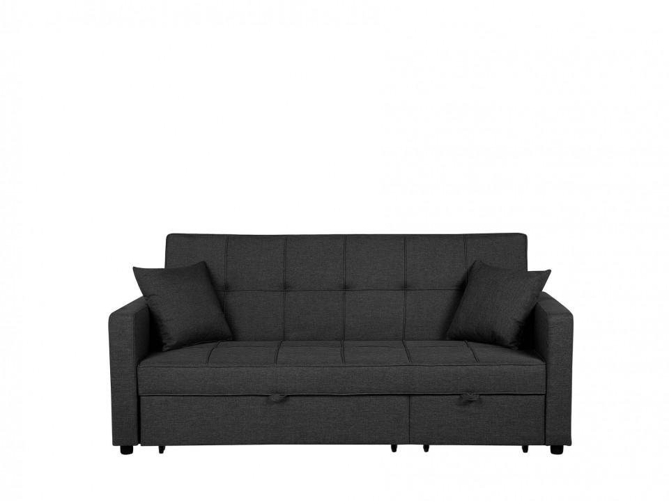 Canapea extensibilă GLOMMA, stofa, gri, 95 x 207 x 87 cm 2021 chilipirul-zilei.ro