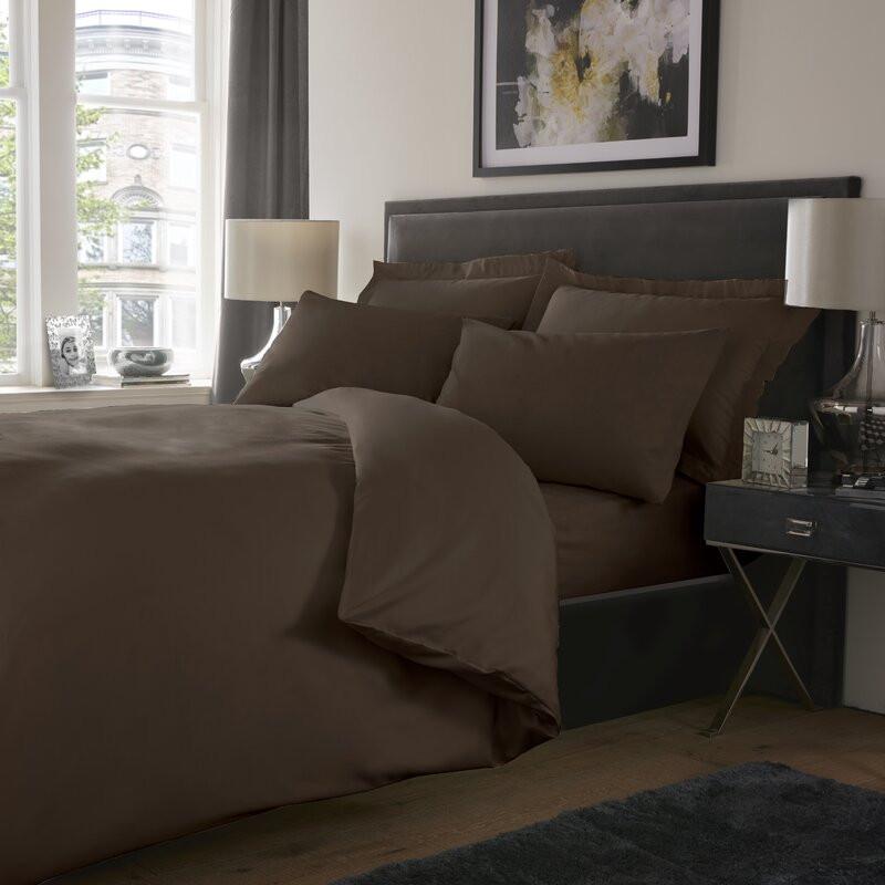 Cearsaf de pat Dumont, maro, 250 x 275 cm