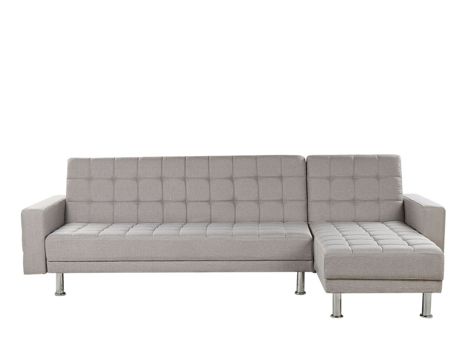 Coltar extensibil NESSET, textil, gri, 80 x 264 x 144 cm 2021 chilipirul-zilei.ro