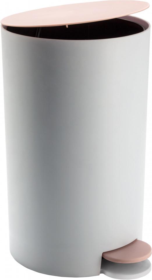 Cos de gunoi Anton, alb/roz, 16 x 26 x 19 cm chilipirul-zilei.ro