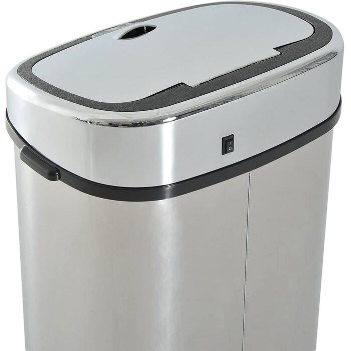 Coș de gunoi, metal, crom. 78 x 40,5 x 29,5 cm