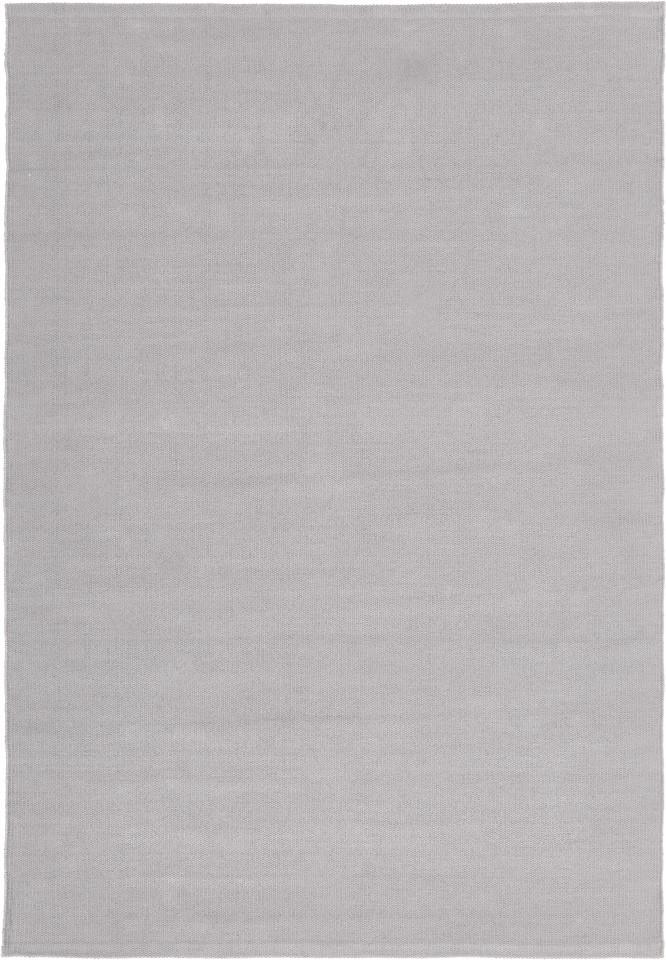 Covor Agneta țesut manual din bumbac, gri, 230 cm x 160 cm poza chilipirul-zilei.ro