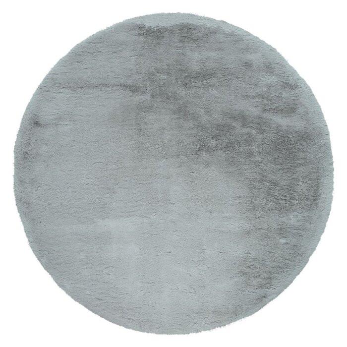 Covor Ananias, poliester/bumbac, gri, 120 cm